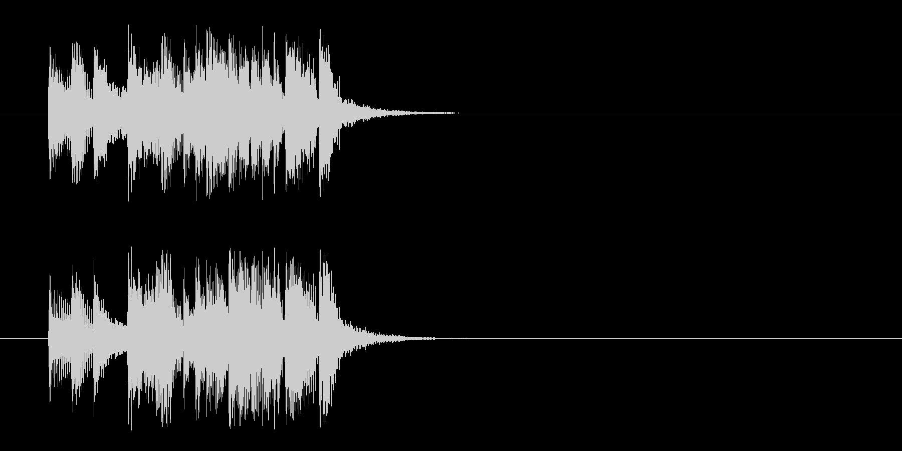 コーナー・タイトル風ポップのジングルの未再生の波形