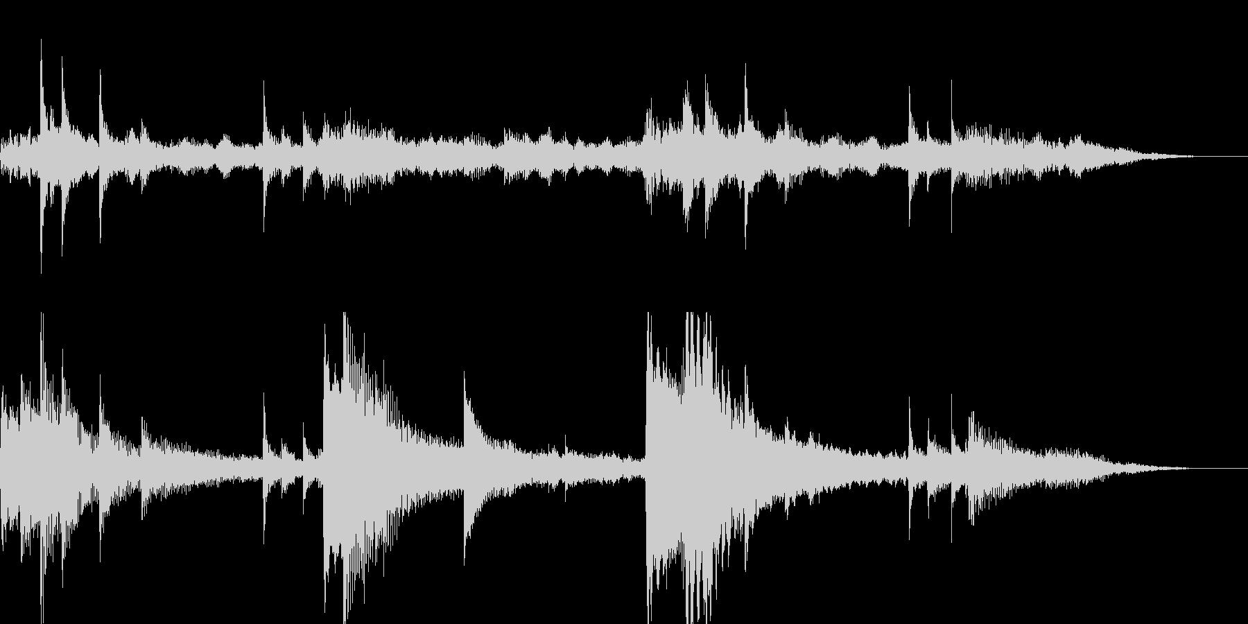 15秒ジングル/朝の爽やかなギターの未再生の波形
