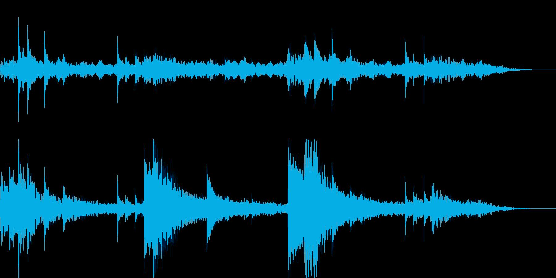 15秒ジングル/朝の爽やかなギターの再生済みの波形