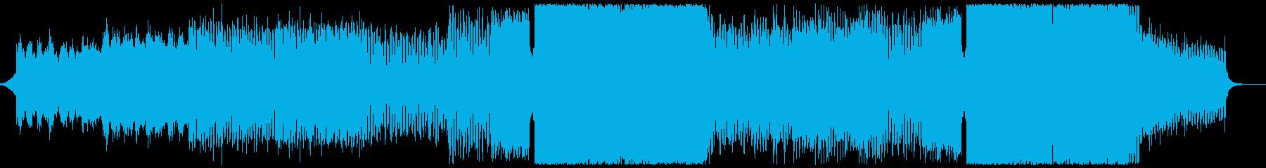 切ないイントロから疾走感MaxなEDMの再生済みの波形