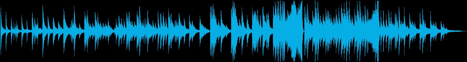 切ない和風バラードインストの再生済みの波形