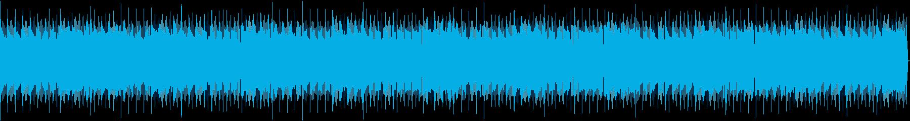 四つ打ちのBGMの再生済みの波形