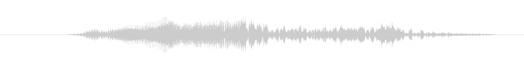 鳴き声 男性の叫びヒット06の未再生の波形