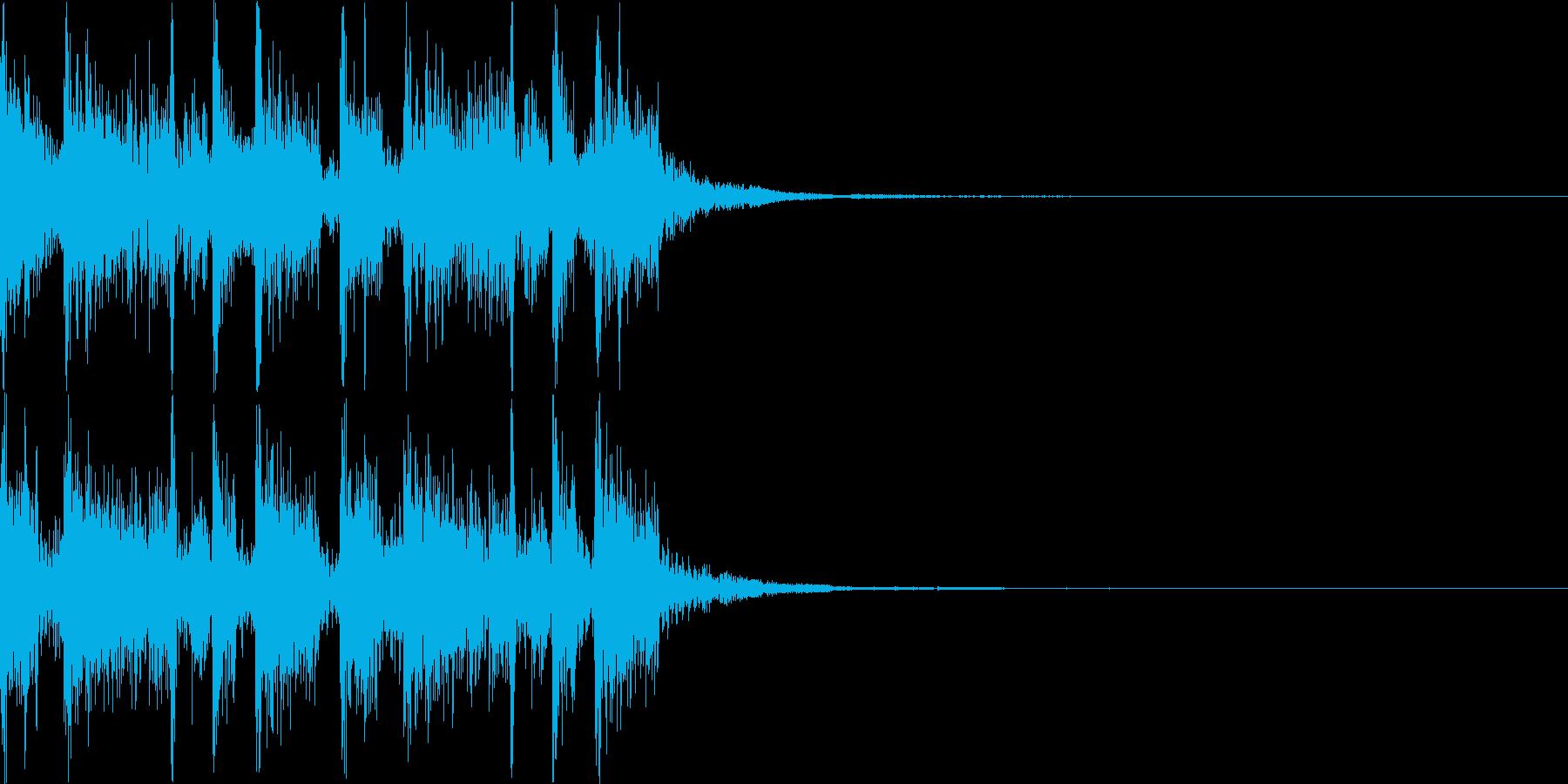 壮大なダブステップEDMジングルの再生済みの波形
