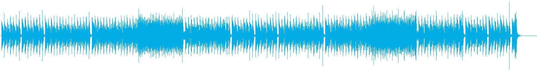 キャッチーなヨーロピアン・メロディーの再生済みの波形