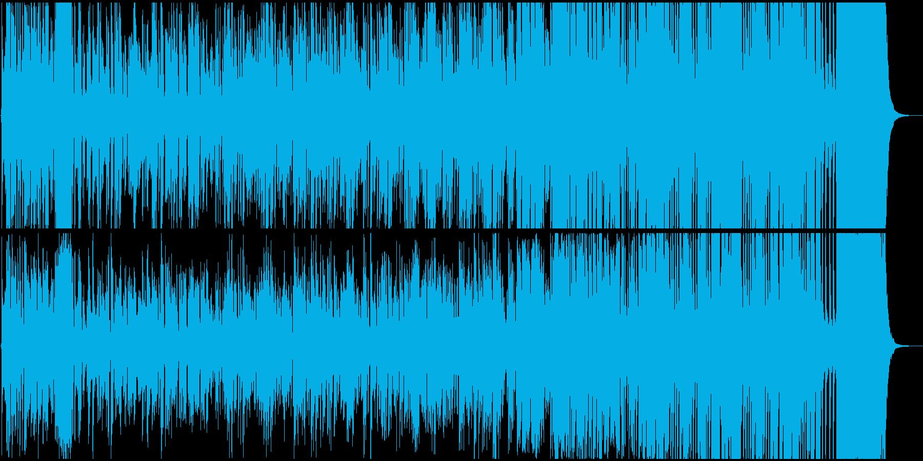 リズミカルでノリノリなジャズの再生済みの波形