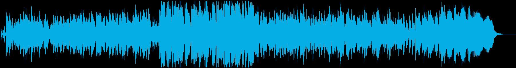 のんびりした落ち着いたBGMの再生済みの波形