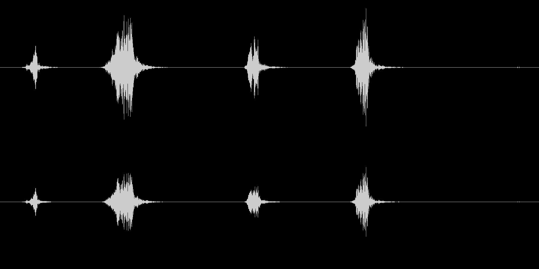 ピッピッピッピッ。小鳥のさえずり(1匹)の未再生の波形