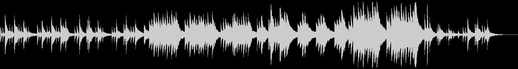 和を意識したピアノ曲の未再生の波形