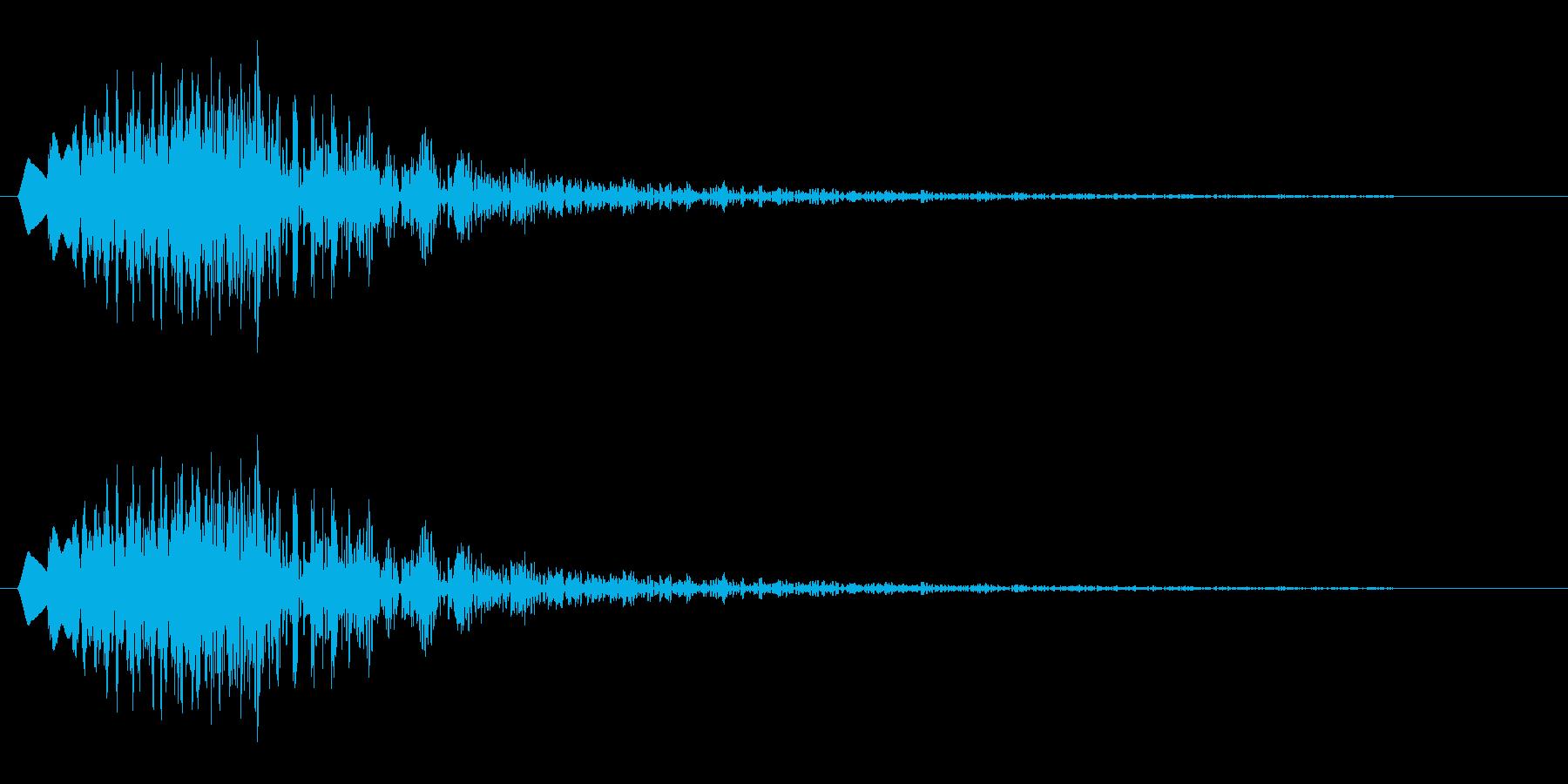 チュルン(クリック音)の再生済みの波形