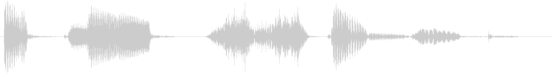 コンピューター応答スピーカーの音声...の未再生の波形