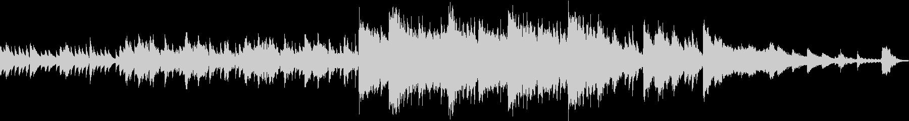 コミカルなキャラクターや場面に合うBGMの未再生の波形
