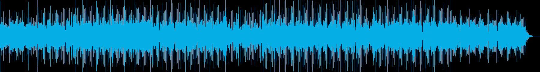 明るくて優しい感じのBGMの再生済みの波形