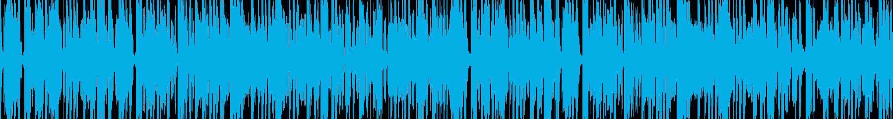 ファンクなグルーヴとトランペットのBGMの再生済みの波形