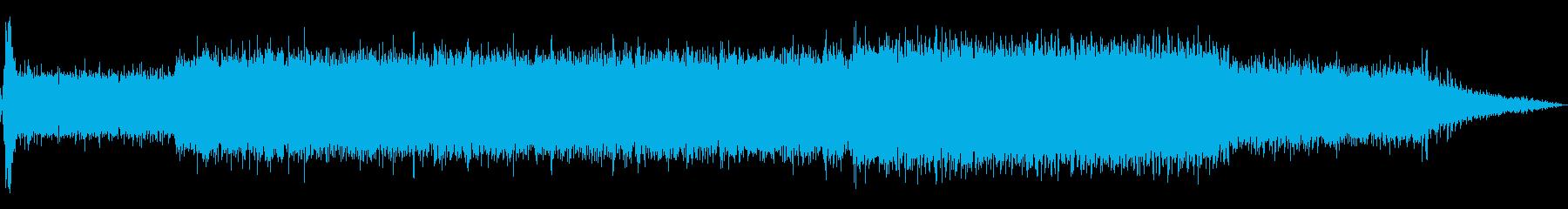 旋盤、モダン、スタート、ラン、スト...の再生済みの波形