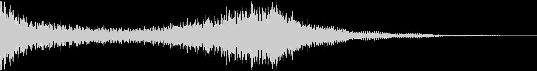ドラムロールCシンバルまで4秒★結果発表の未再生の波形