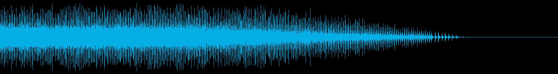 近距離の鳴き始め〜終わりまでの蝉の鳴き声の再生済みの波形