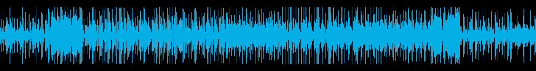 レトロ風メロディとピコピコ音の無限リレーの再生済みの波形