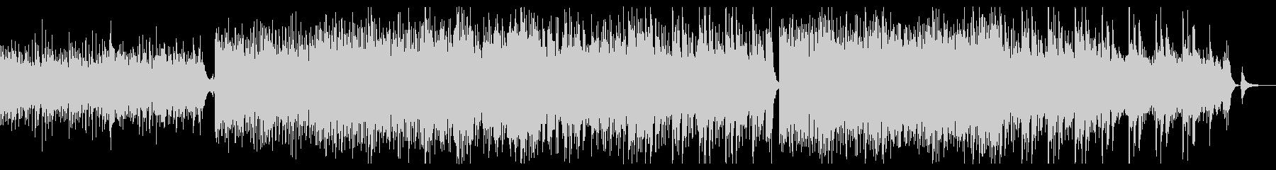 軽快で明るい四つ打ち曲の未再生の波形
