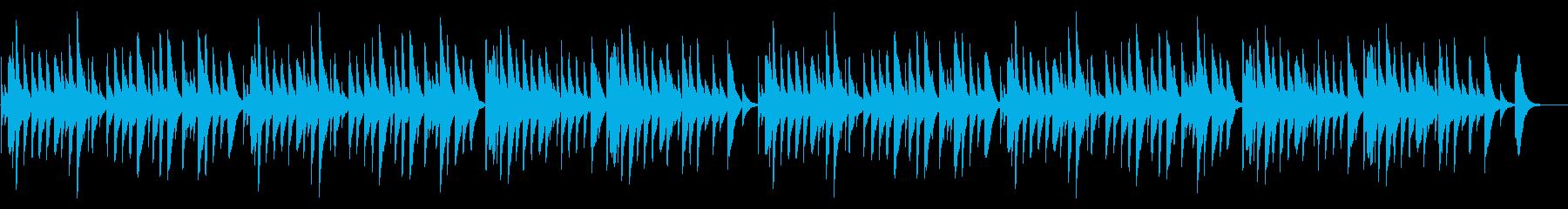 おしゃれでシンプルなオルゴールの再生済みの波形