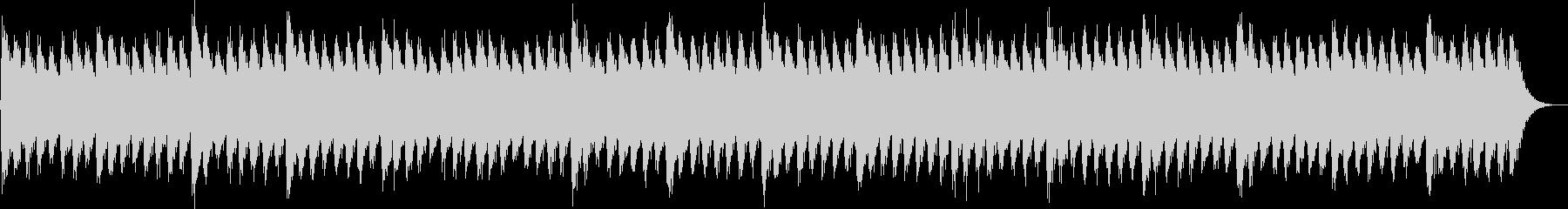 追いつめられるようなホラー曲の未再生の波形