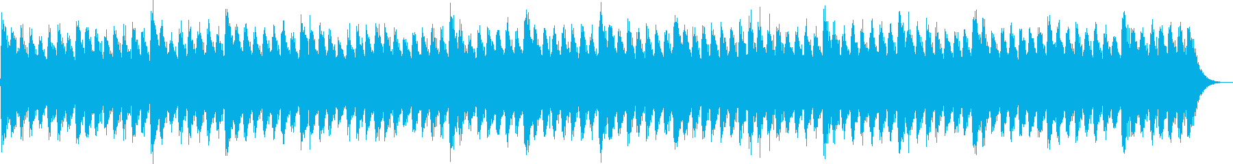 追いつめられるようなホラー曲の再生済みの波形