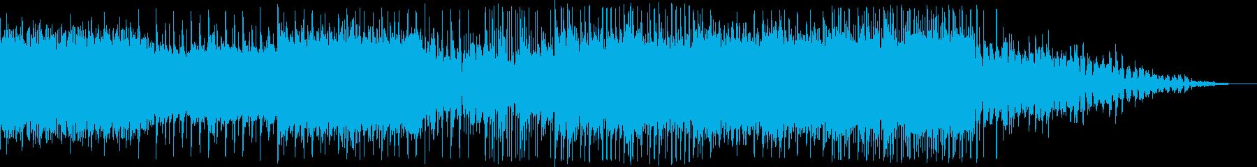 キラキラ明るい印象のスローテンポのEDMの再生済みの波形