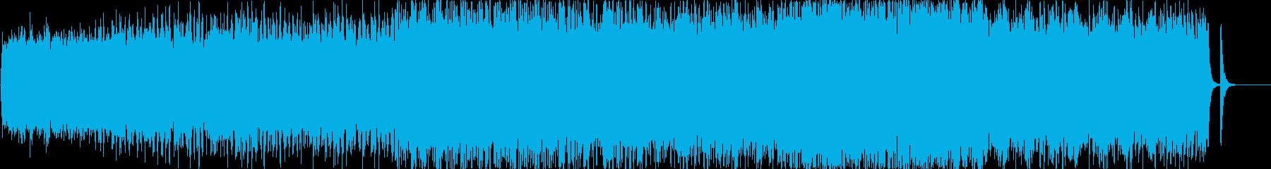 穏やかで軽快な3拍子のオケーストラ曲の再生済みの波形