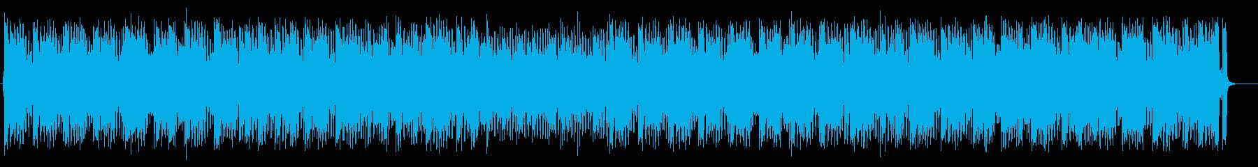 パーカッションとベースが賑やかなポップスの再生済みの波形