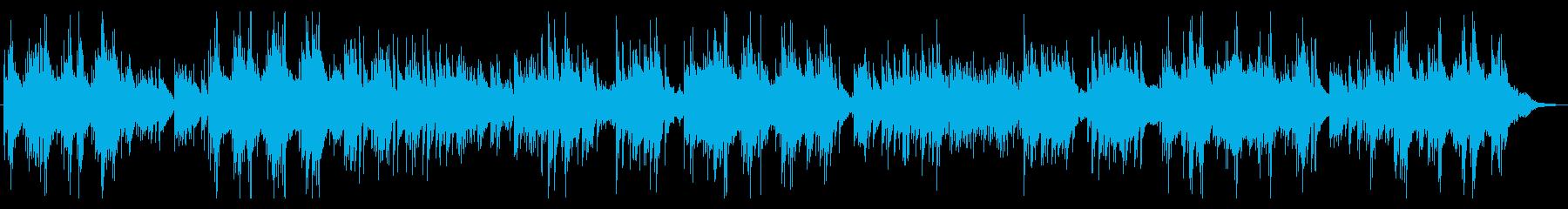 静かな子守歌のようなアコギ曲の再生済みの波形