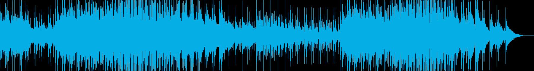 ピアノとシンセのエンディング向きの楽曲の再生済みの波形