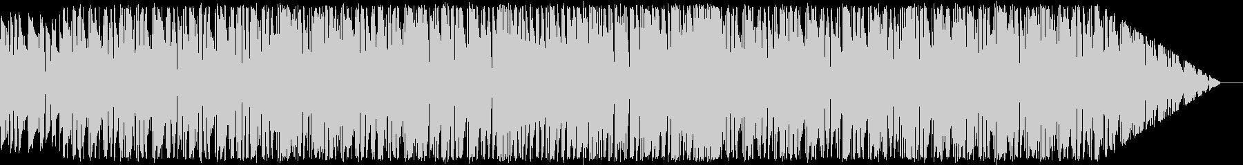 ピアノとギターを使ったドラムンベース風の未再生の波形