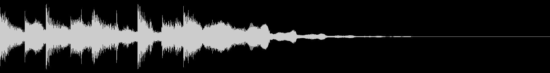明るいサウンドロゴの未再生の波形