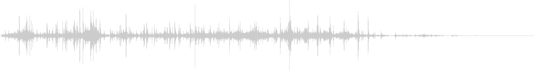 【生録音】ゴミの音 1 丸めるの未再生の波形