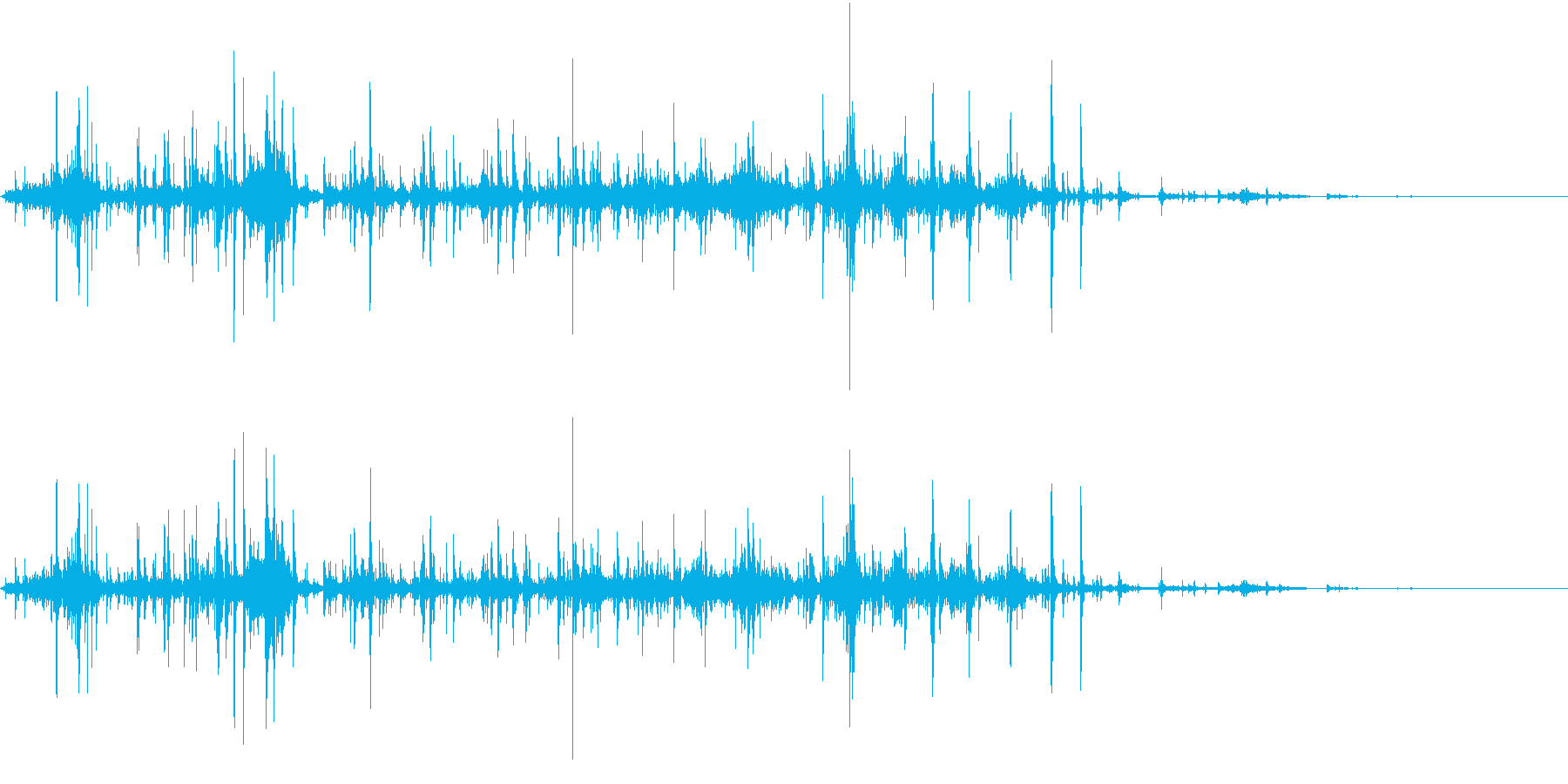 【生録音】ゴミの音 1 丸めるの再生済みの波形