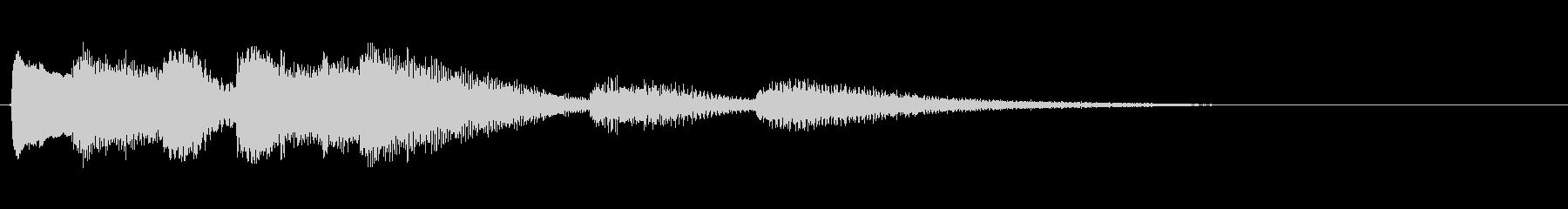 ピアノ・アイキャッチ・割り切れないの未再生の波形