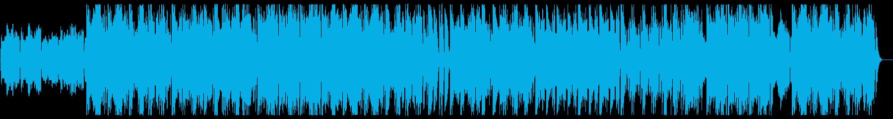 緩やかでメローなクラシカルワルツ風BGMの再生済みの波形