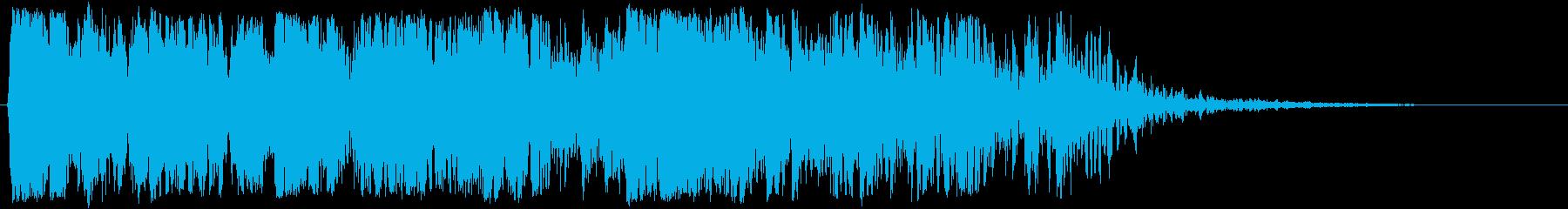 空爆(屋内)01の再生済みの波形