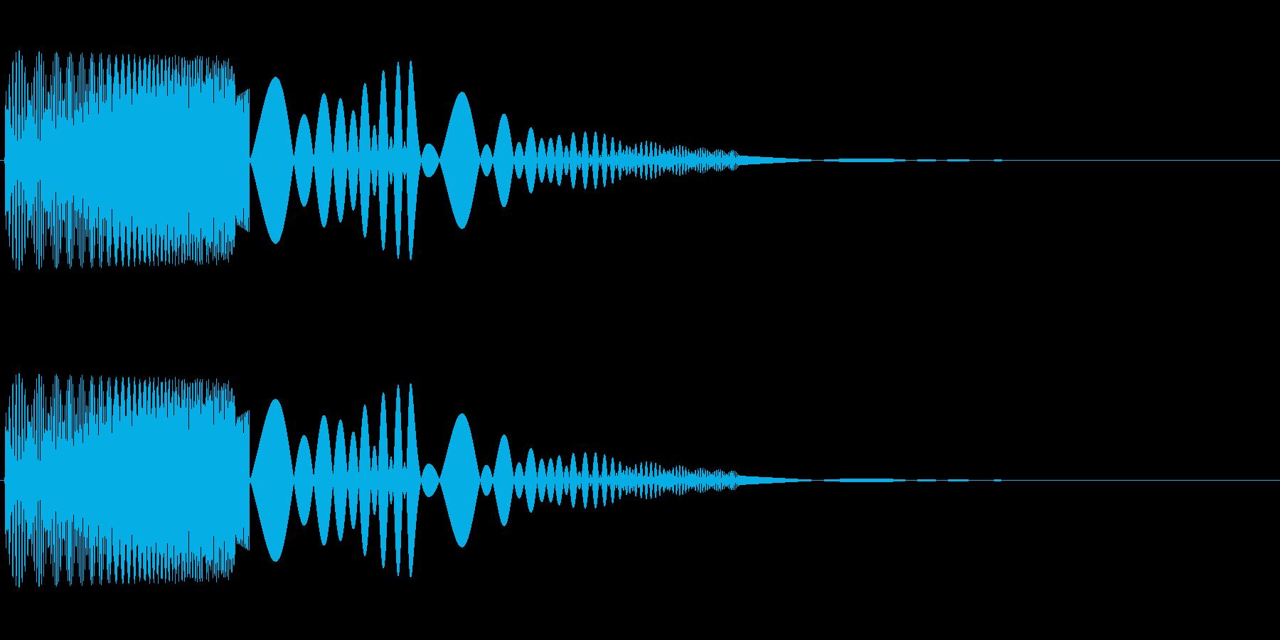 プニッと柔らかい物をつつく01の再生済みの波形