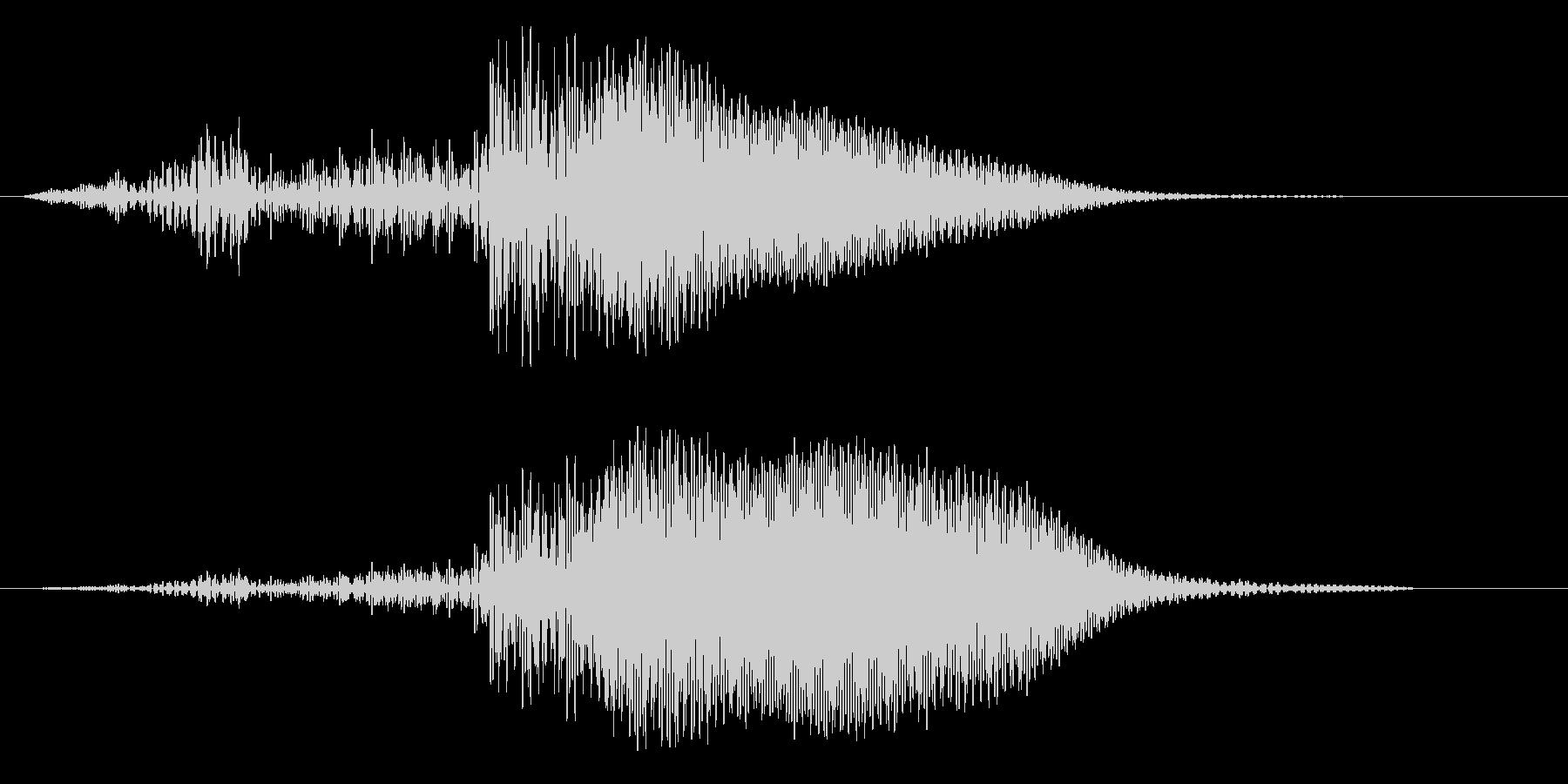 SFや近未来作品に適したほわんとした音の未再生の波形