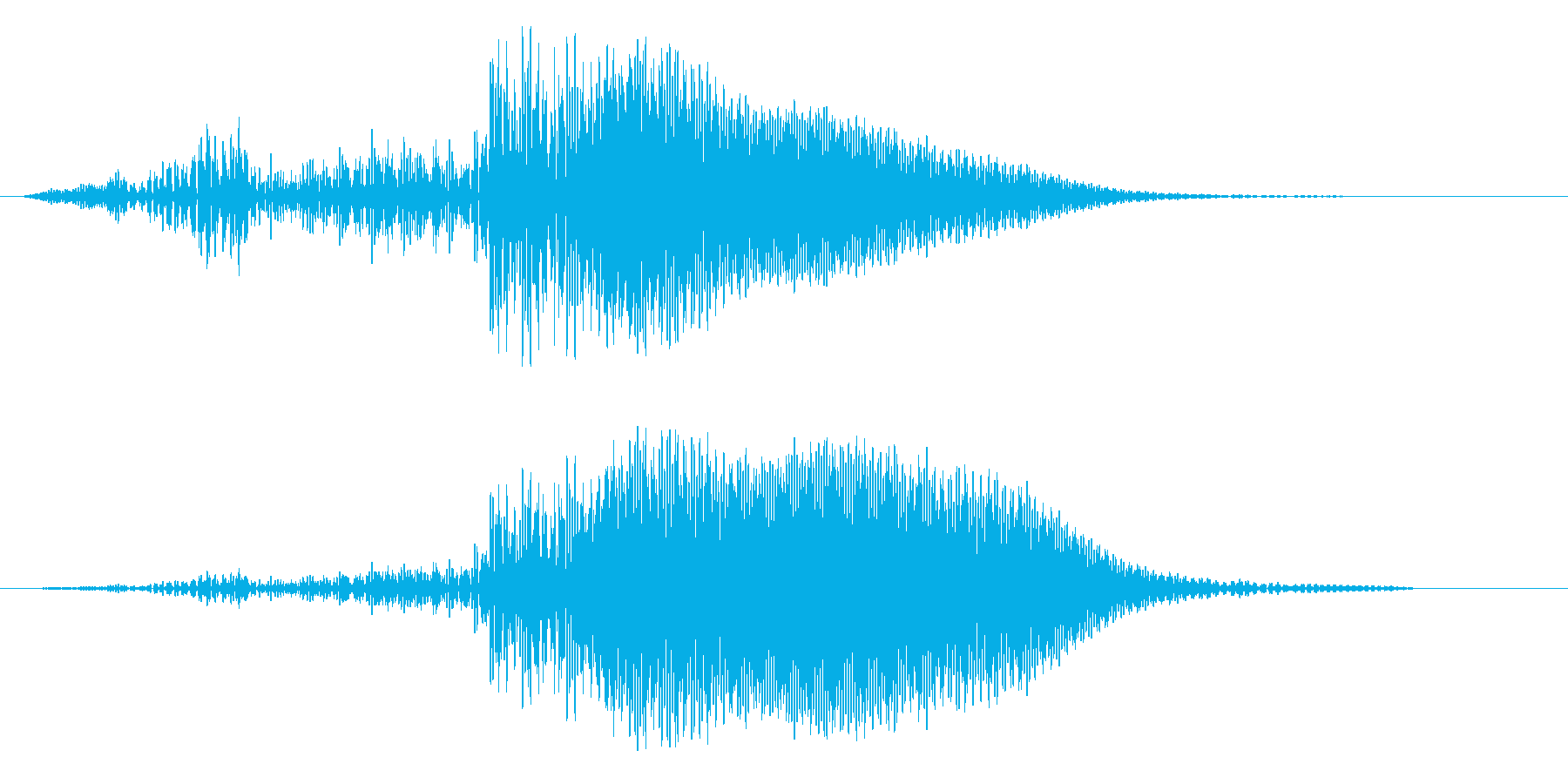 SFや近未来作品に適したほわんとした音の再生済みの波形