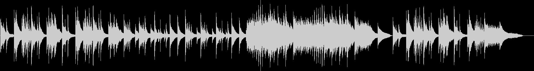 ピアノソロの切ない・儚いBGMの未再生の波形