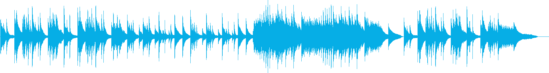 ピアノソロの切ない・儚いBGMの再生済みの波形