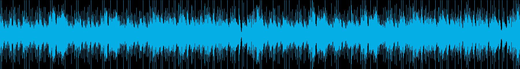 アコギのあたたかな雰囲気のループBGMの再生済みの波形
