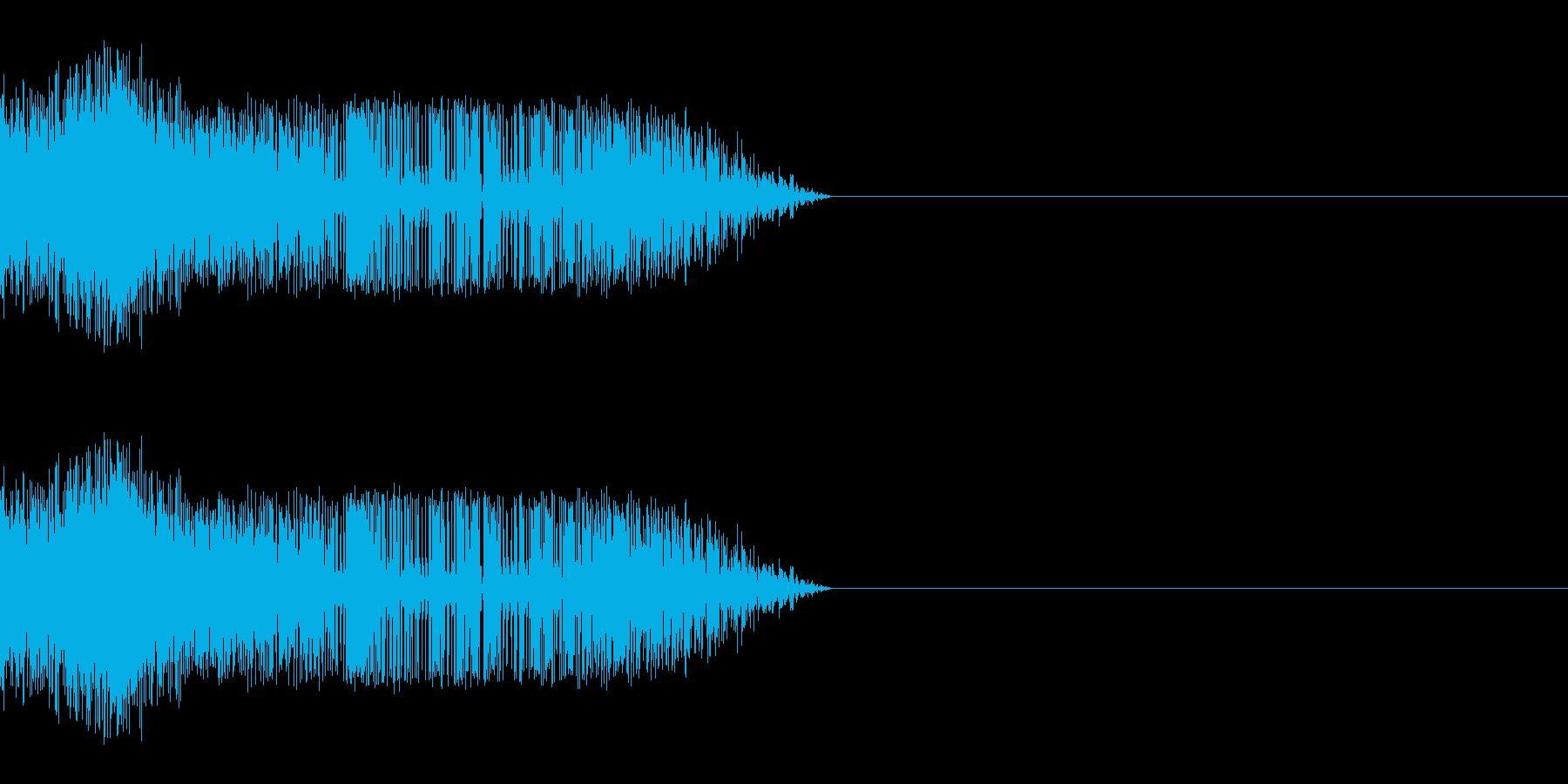シャッ(スライディング/滑る/ひっかく)の再生済みの波形