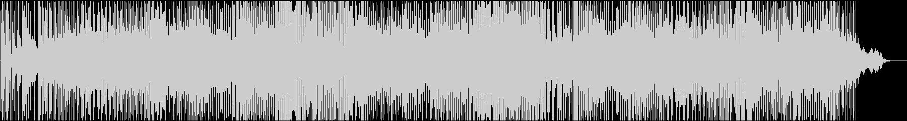 エモーショナル系エレクトロニカ、力強い音の未再生の波形