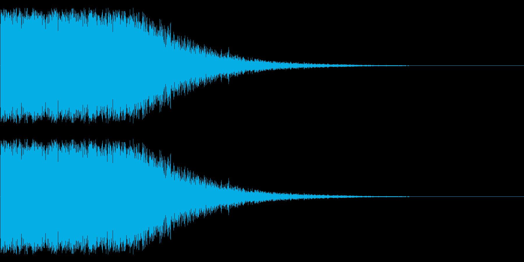 特撮にありそうな爆発音の再生済みの波形
