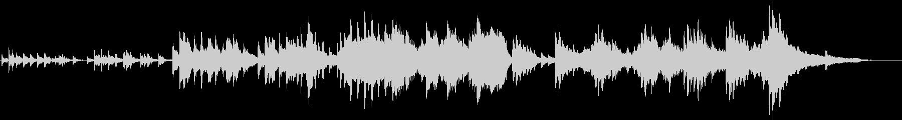 幻想的なオルゴールとピアノ、弦楽の曲の未再生の波形