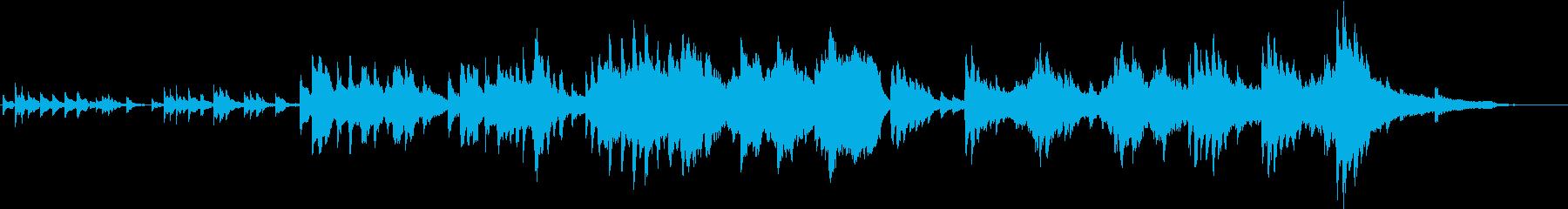 幻想的なオルゴールとピアノ、弦楽の曲の再生済みの波形