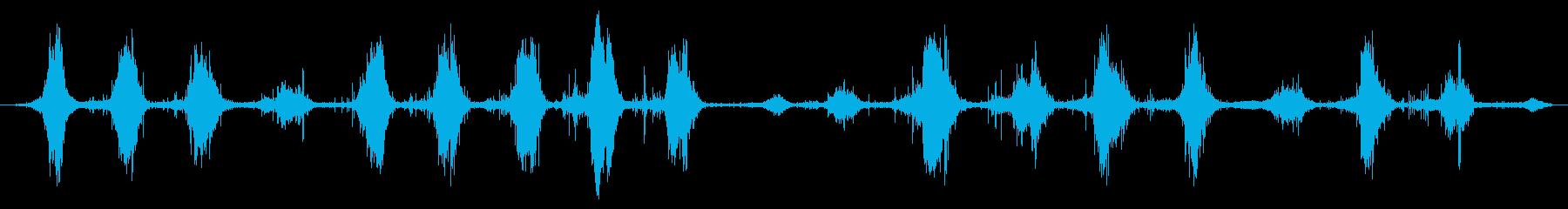 水中の海:浅い波の再生済みの波形